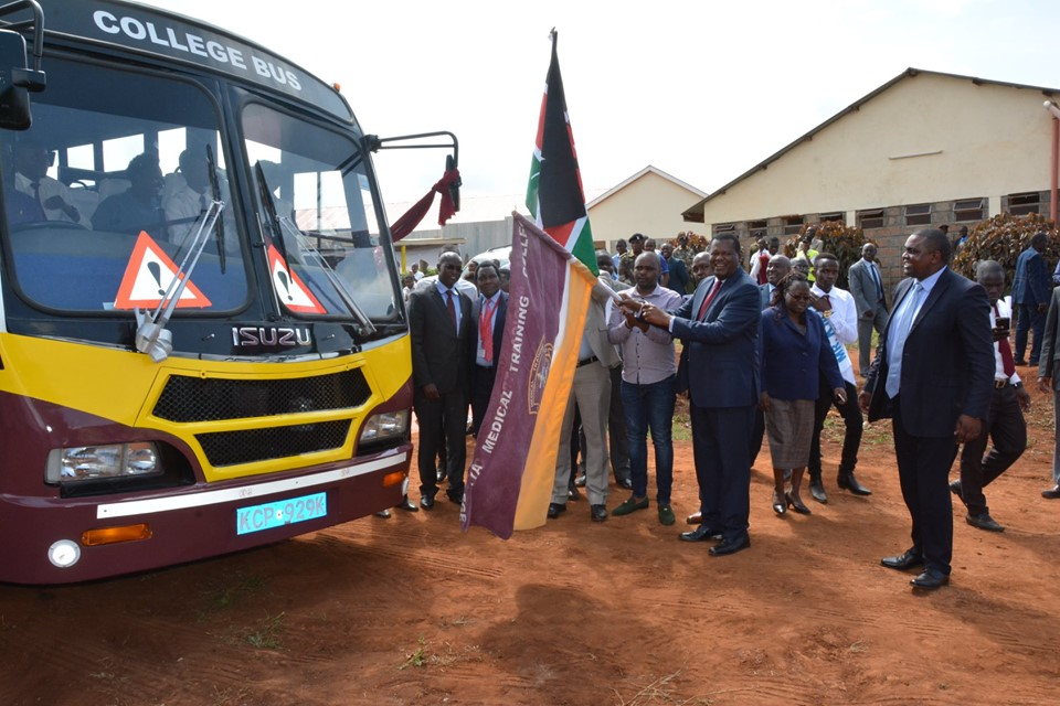 KMTC Chuka campus receives a new bus