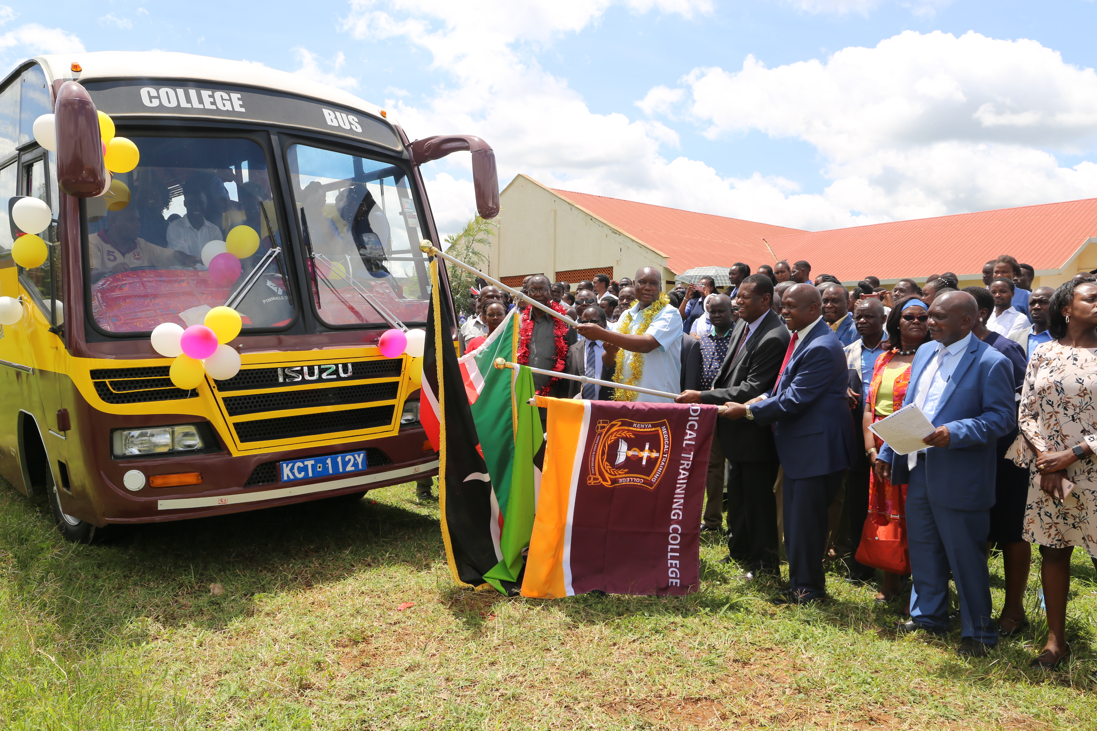 New bus commissioned as area leaders pledge support for expansion of KMTC Busia