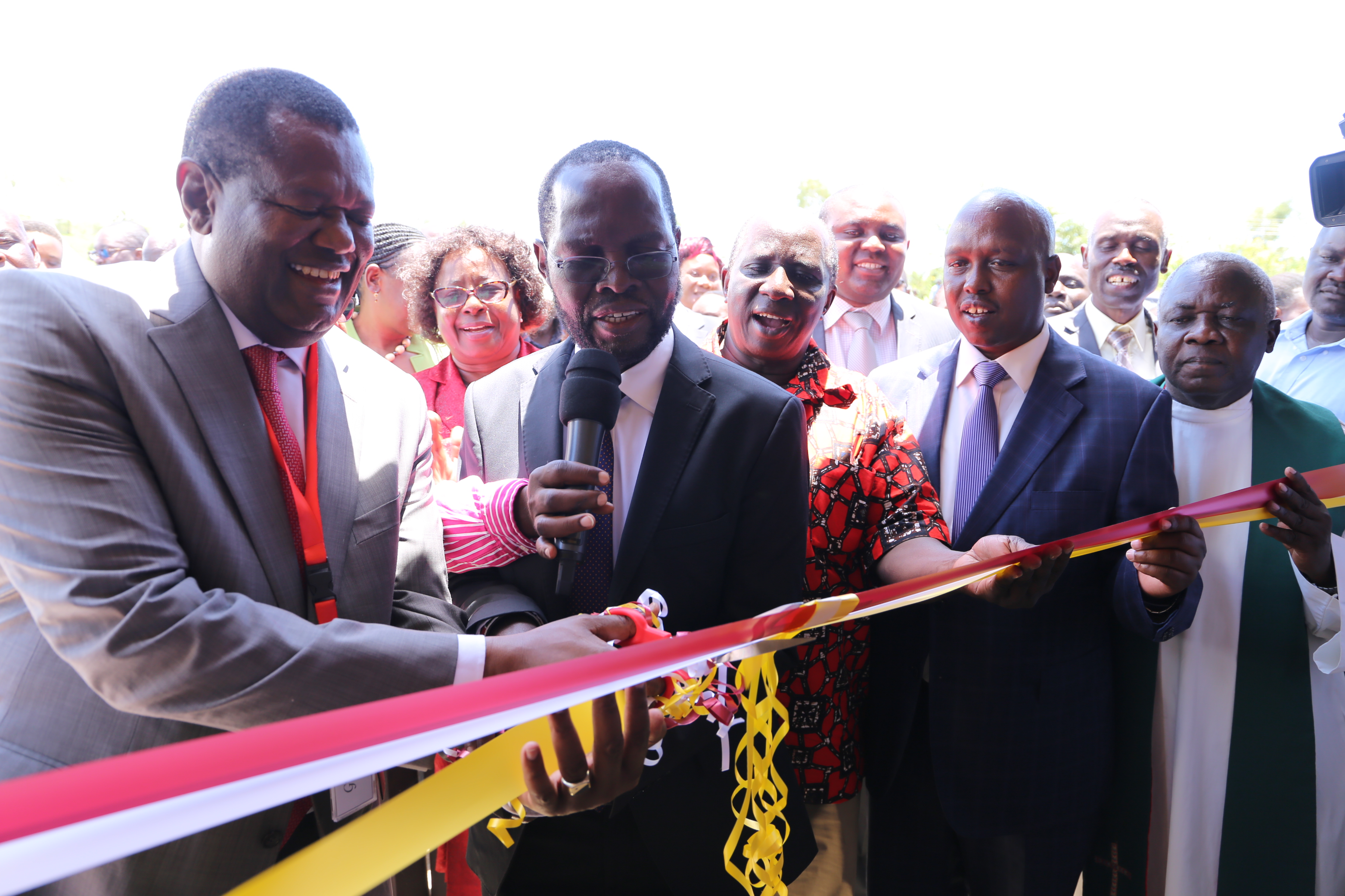 KMTC Kombewa receives bus as four new classrooms are officially opened